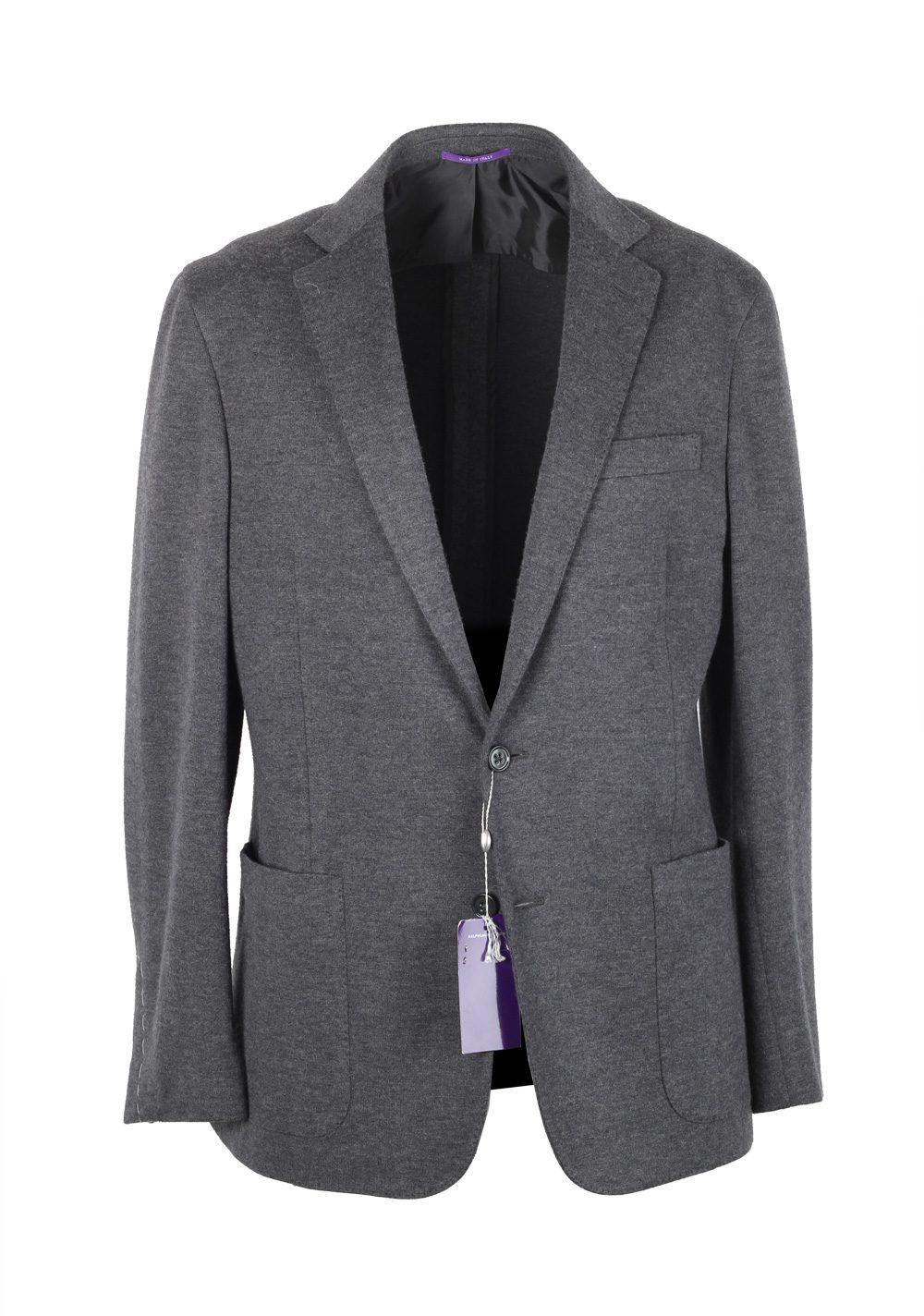 Ralph Lauren Purple Label Gray Sport Coat Size 50 / 40R U.S. In Wool Blend | Costume Limité