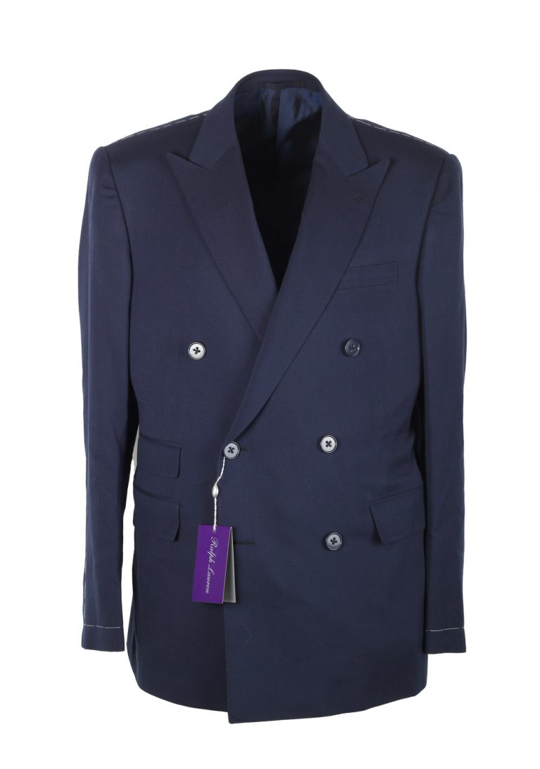 Ralph Lauren Purple Label Blue Suit Size 52 / 42R U.S. In Wool - thumbnail | Costume Limité