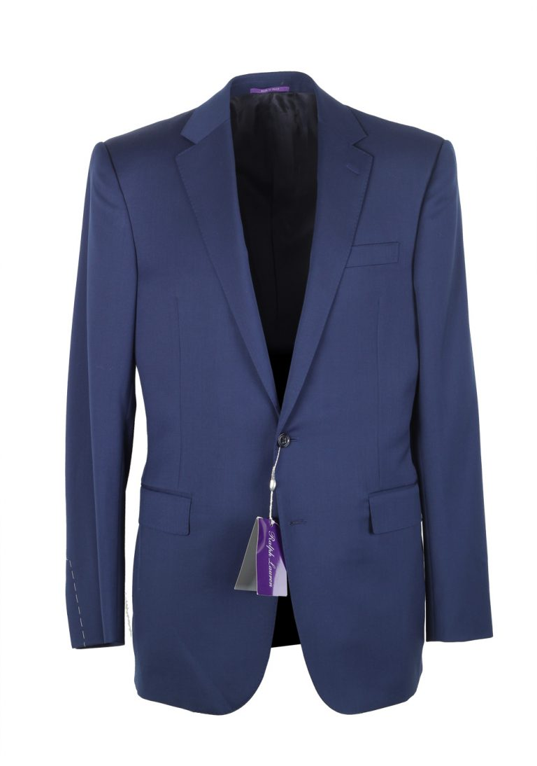 Ralph Lauren Purple Label Blue Suit Size 50L / 40L U.S. In Wool - thumbnail | Costume Limité