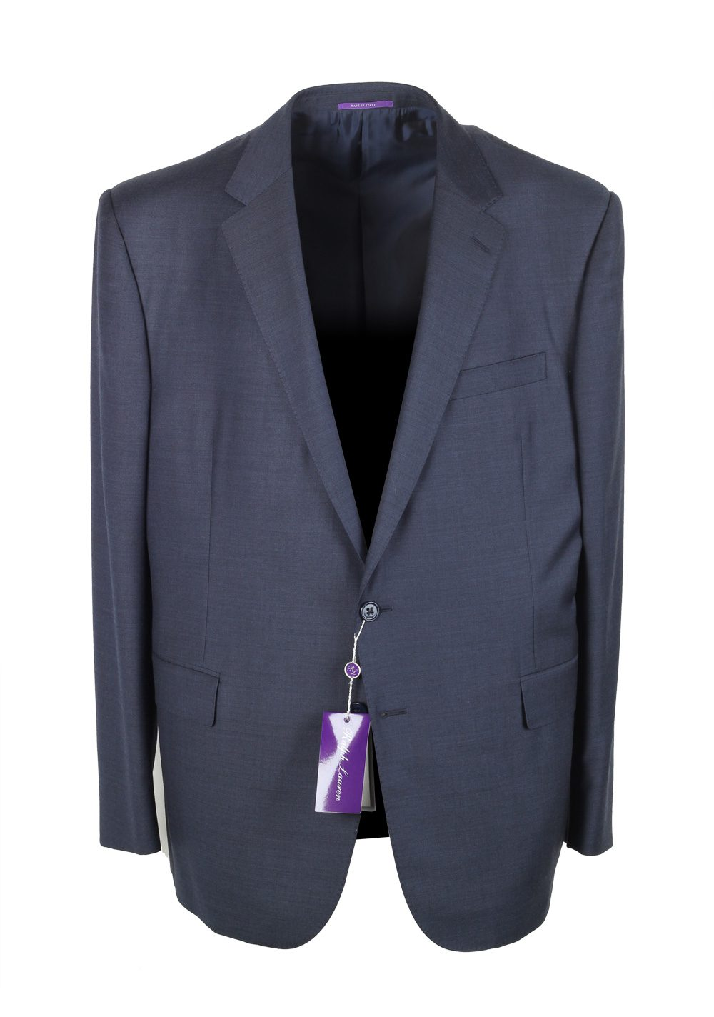 Ralph Lauren Purple Label Blue Suit Size 58 / 48R U.S. In Wool | Costume Limité