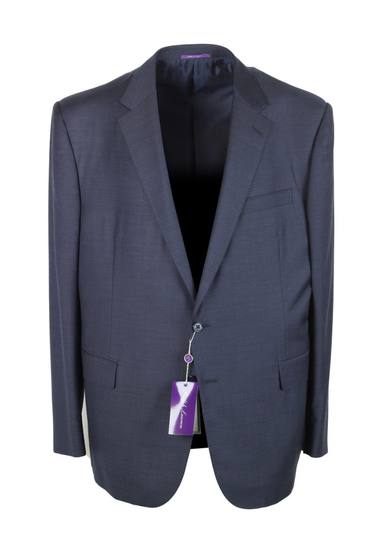 Ralph Lauren Purple Label Blue Suit Size 58 / 48R U.S. In Wool - thumbnail | Costume Limité