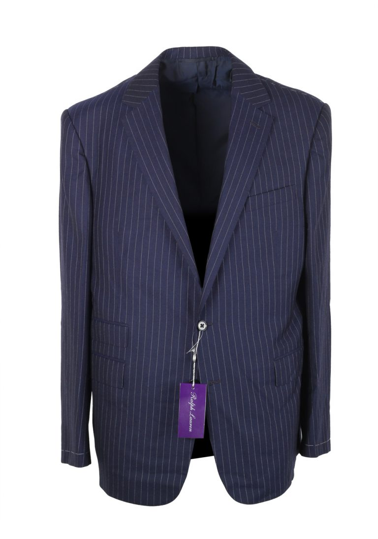 Ralph Lauren Purple Label Blue Suit Size 54 / 44 U.S. In Wool - thumbnail | Costume Limité