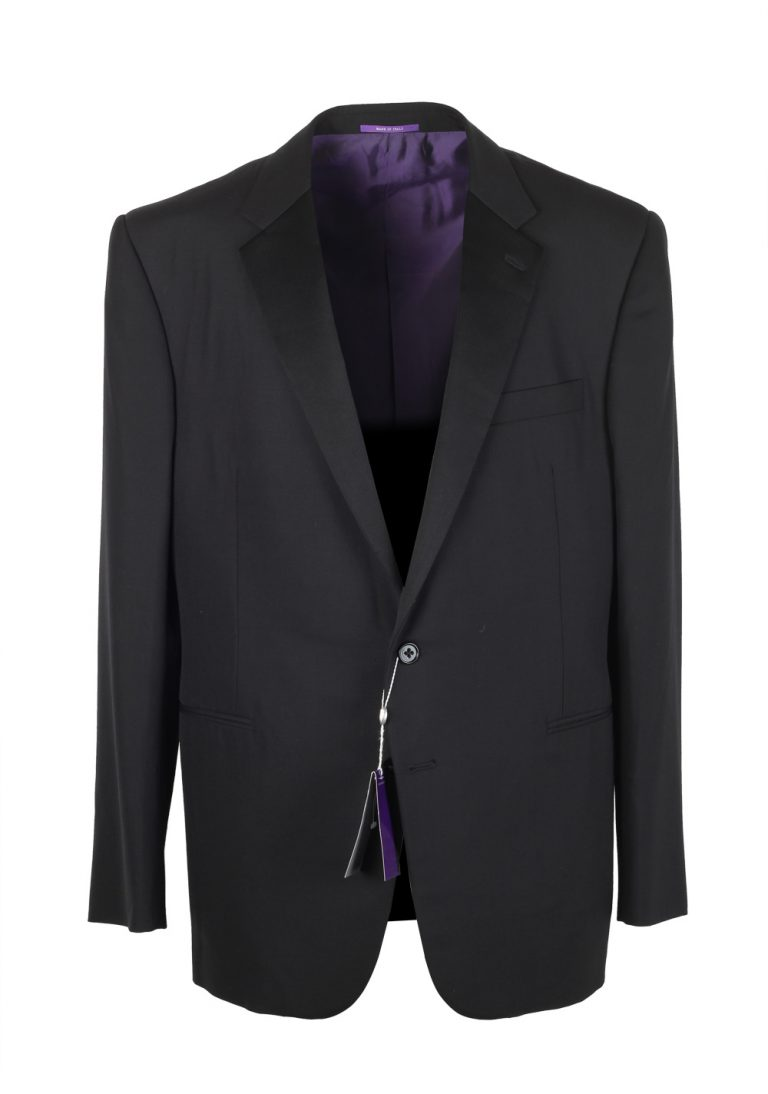 Ralph Lauren Purple Label Black Tuxedo Suit Size 56 / 46 U.S. In Wool - thumbnail | Costume Limité
