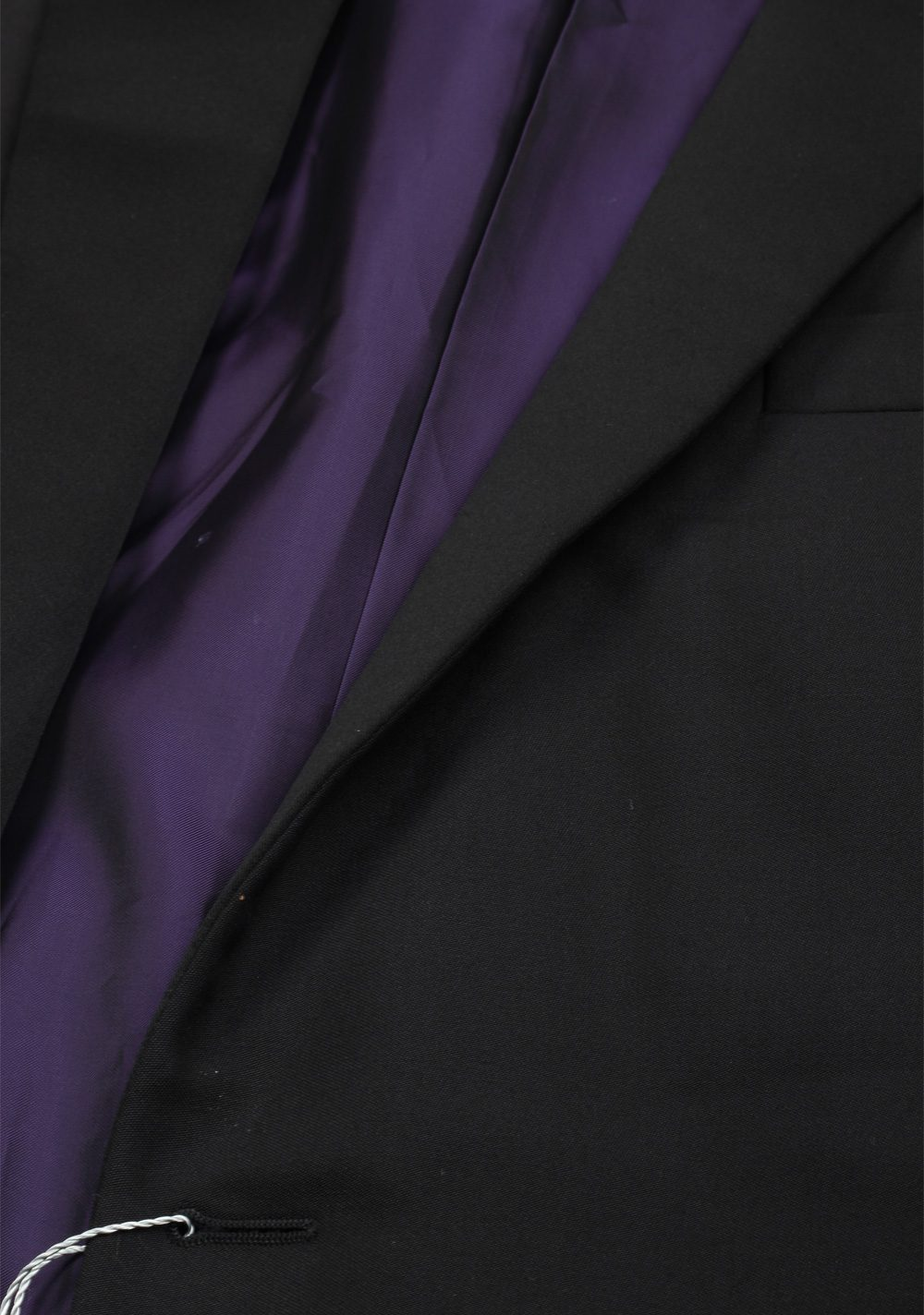 Ralph Lauren Purple Label Black Tuxedo Suit Size 56 / 46 U.S. In Wool | Costume Limité