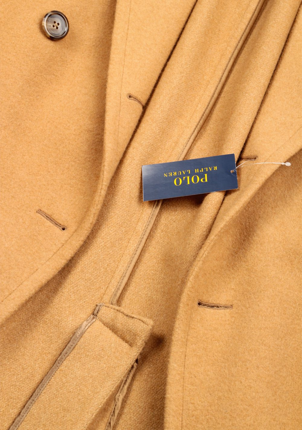 Polo Ralph Lauren Double Breasted Polo Camel Coat Size 52 / 42R U.S. | Costume Limité