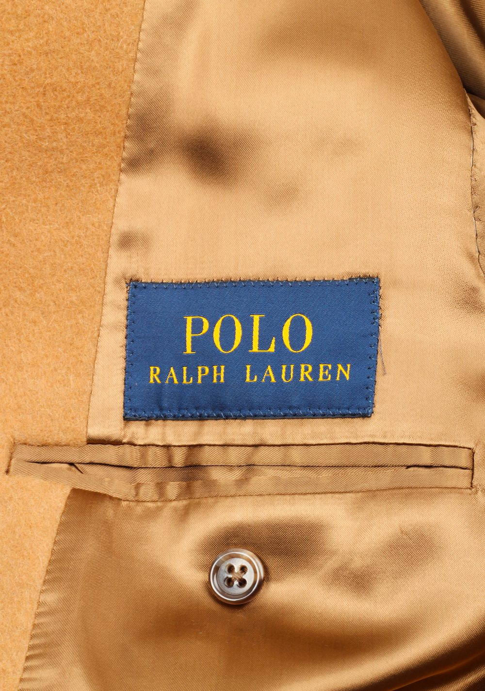 Polo Ralph Lauren Double Breasted Polo Camel Coat Size 54 / 44 U.S. | Costume Limité
