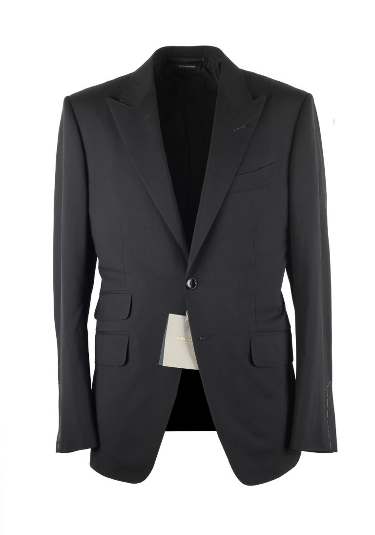 TOM FORD O'Connor Black Suit Size 48C / 38S U.S. Wool Silk Fit Y - thumbnail | Costume Limité