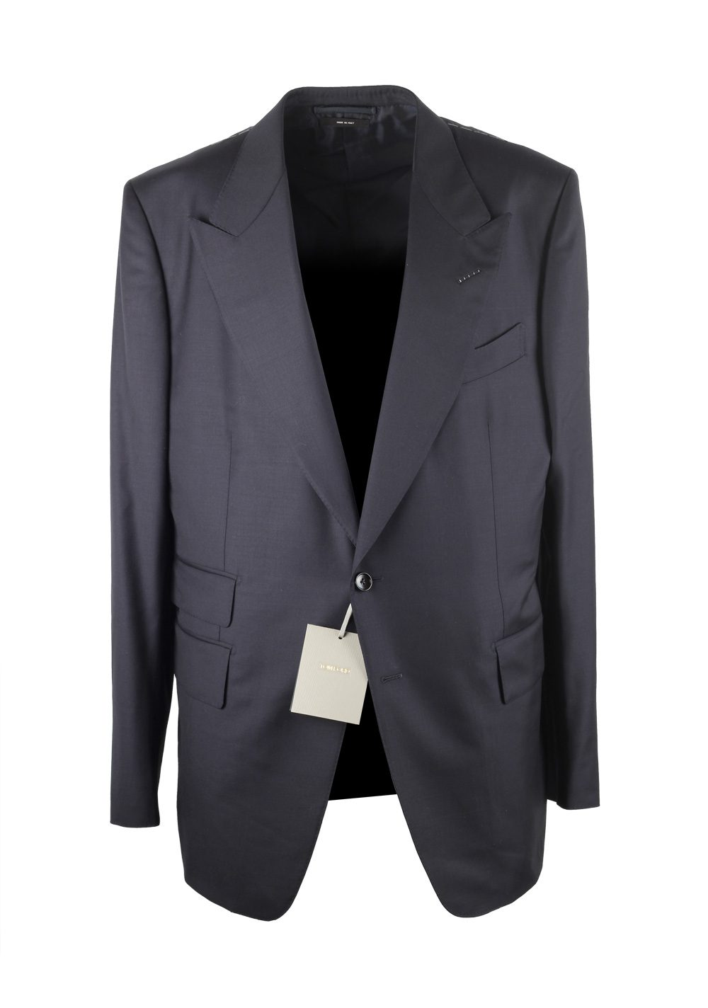 14aa45318e143 TOM FORD Shelton Blue Suit Size 56   46R U.S. Wool