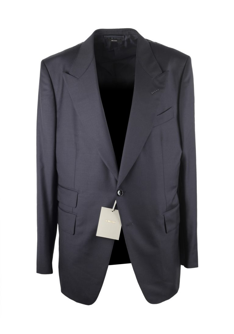 TOM FORD Shelton Blue Suit Size 56 / 46R U.S. Wool - thumbnail | Costume Limité
