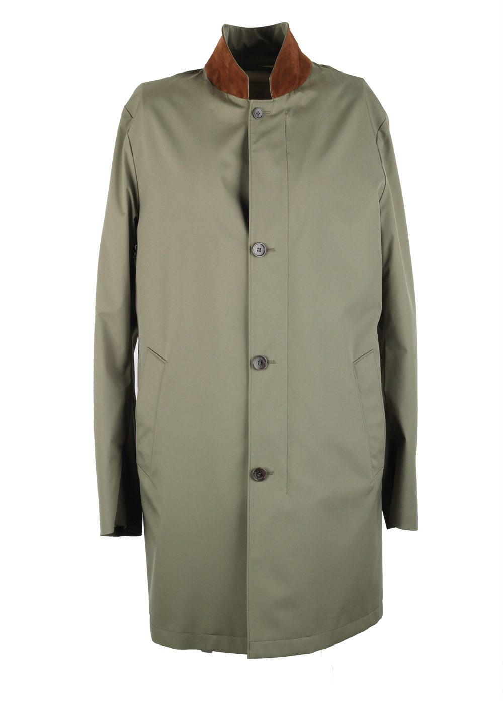 Loro Piana Green Storm System Sebring Coat Size M Medium Outerwear | Costume Limité