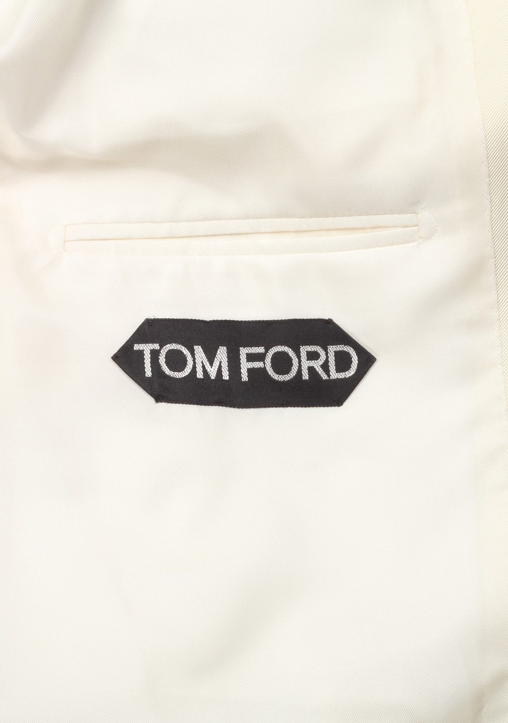 TOM FORD O'Connor Shawl Collar Ivory Sport Coat Tuxedo Dinner Jacket Size 52 / 42R U.S. Fit Y | Costume Limité