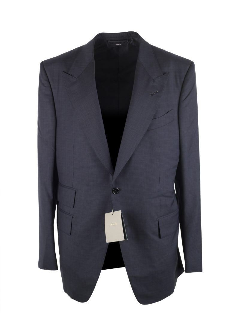TOM FORD Windsor Blue Suit Size 52 / 42R U.S. In Wool Fit A - thumbnail | Costume Limité