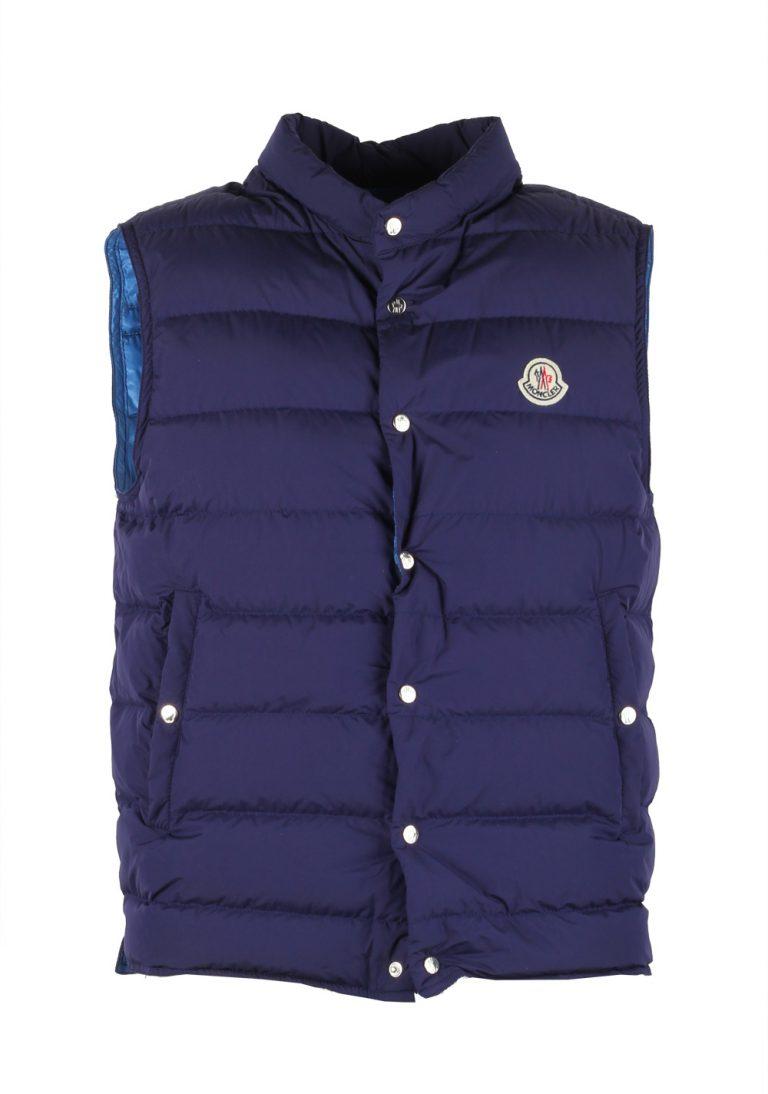 Moncler Blue Febe Gilet Vest Size 2 / M / 48 / 38R U.S. - thumbnail | Costume Limité