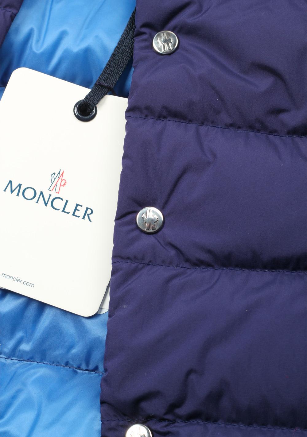 Moncler Blue Febe Gilet Vest Size 2 / M / 48 / 38R U.S. | Costume Limité