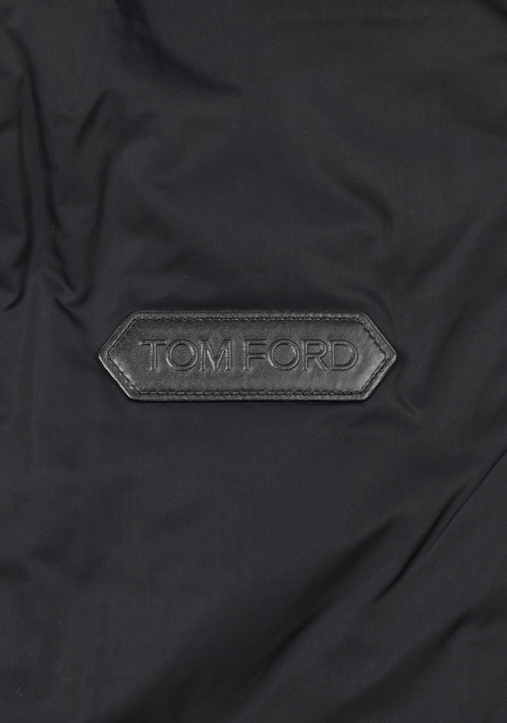 TOM FORD Black James Bond Spectre Knitted Sleeve Bomber Jacket  Size 48 / 38R U.S. | Costume Limité