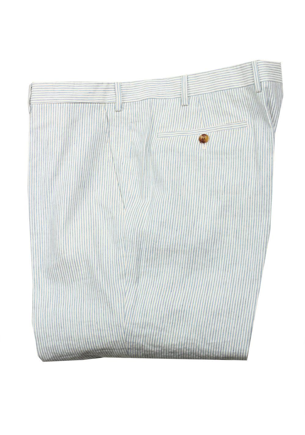 Loro Piana Blue White Striped Trousers Size 58 / 42 U.S. | Costume Limité