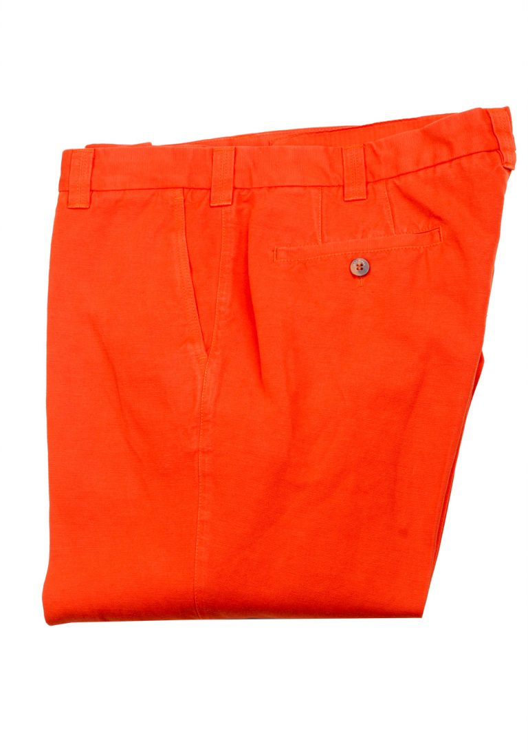 Loro Piana Orange Trousers Size 52 / 36 U.S. - thumbnail | Costume Limité