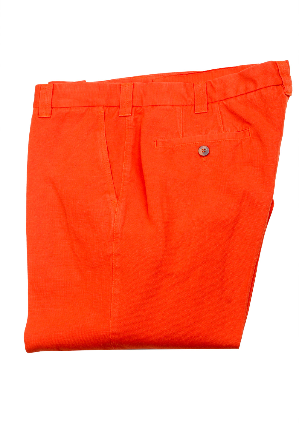 Loro Piana Orange Trousers Size 52 / 36 U.S. | Costume Limité