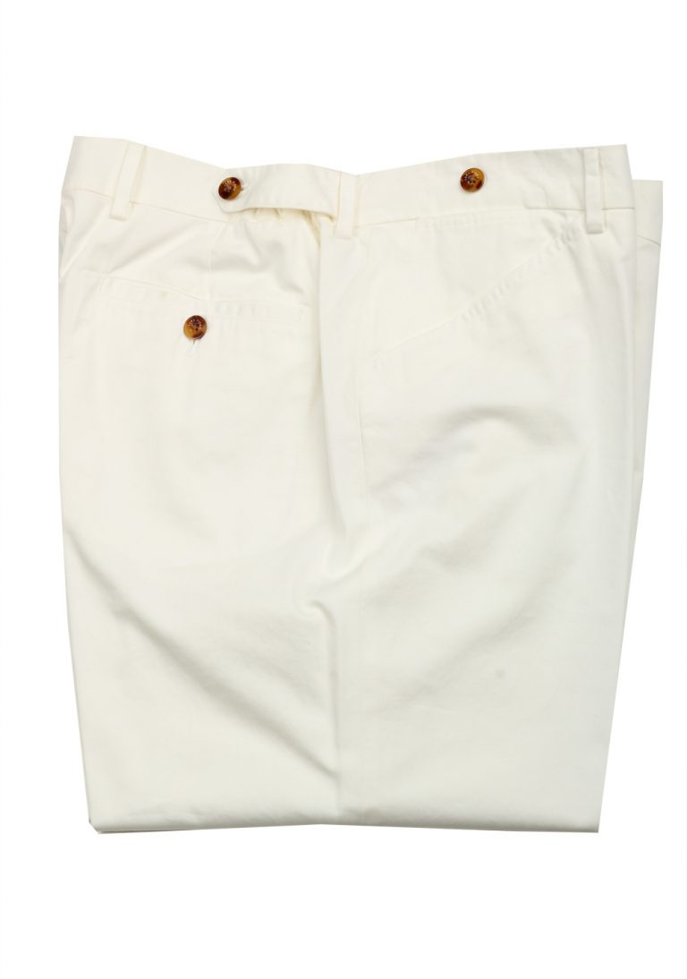 Loro Piana Off White Trousers Size 56 / 40 U.S. - thumbnail | Costume Limité