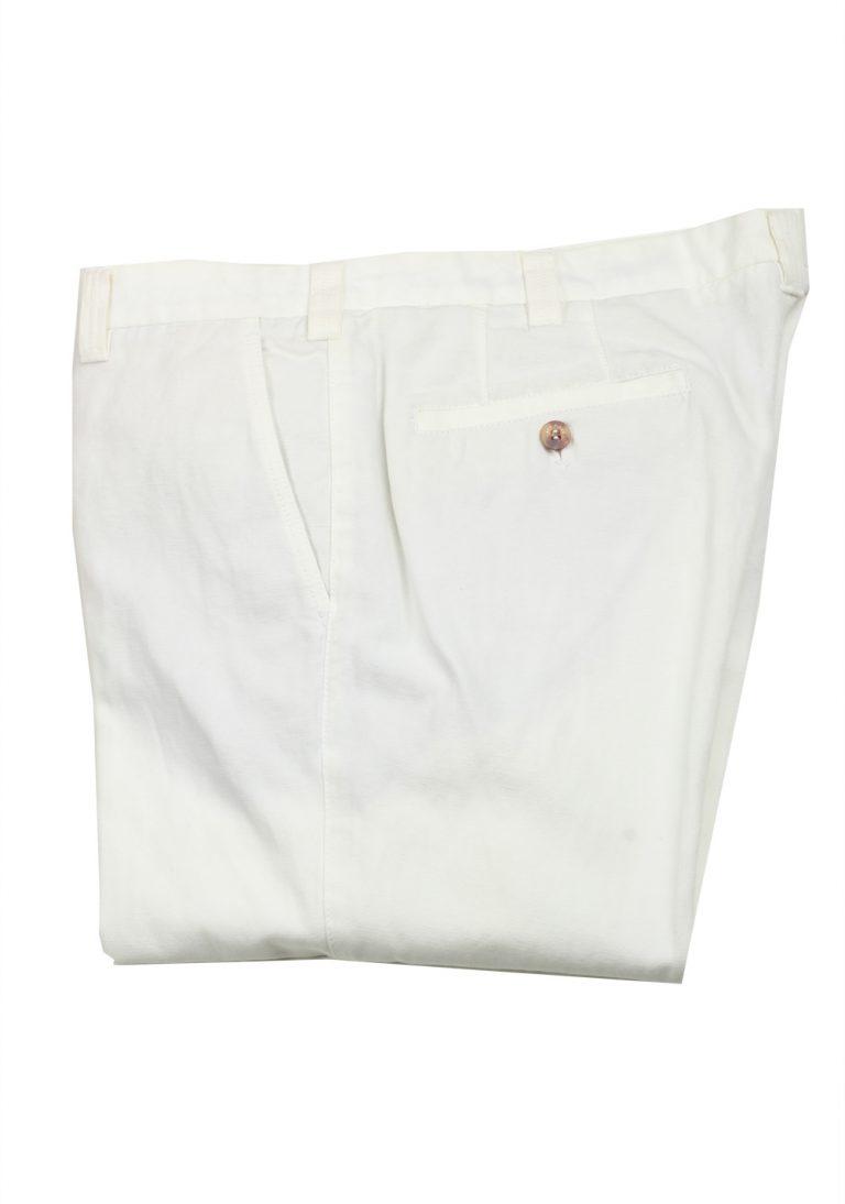Loro Piana White Trousers Size 50 / 34 U.S. - thumbnail | Costume Limité