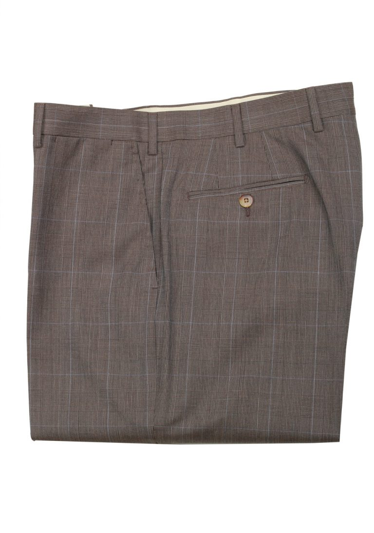 Caruso Gray Checked Trousers Size 56 / 40 U.S. - thumbnail | Costume Limité