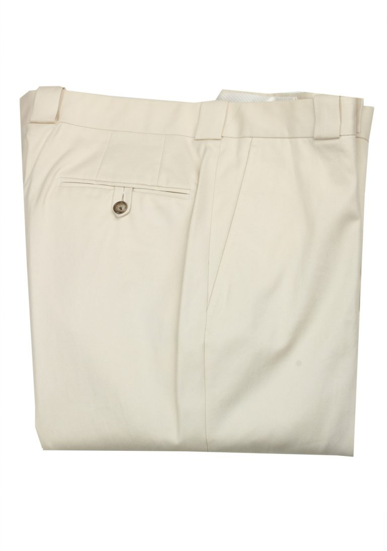 TOM FORD Beige Cotton Trousers Size 56 / 40 U.S. - thumbnail | Costume Limité