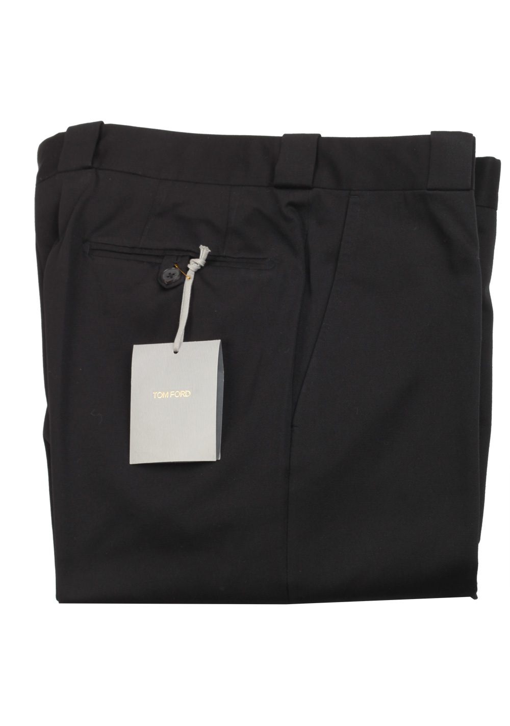 TOM FORD Black Cotton Trousers Size 52 / 36 U.S. | Costume Limité