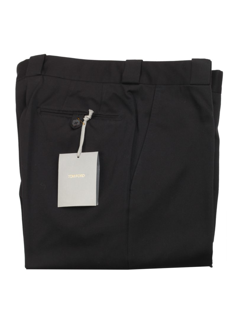 TOM FORD Black Cotton Trousers Size 52 / 36 U.S. - thumbnail | Costume Limité