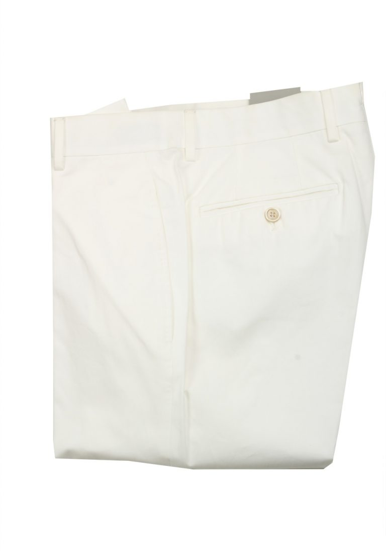 TOM FORD White Cotton Trousers Size 46 / 30 U.S. - thumbnail | Costume Limité