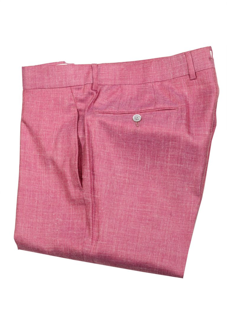 TOM FORD Pink Wool Blend Trousers Size 52 / 36 U.S. - thumbnail | Costume Limité