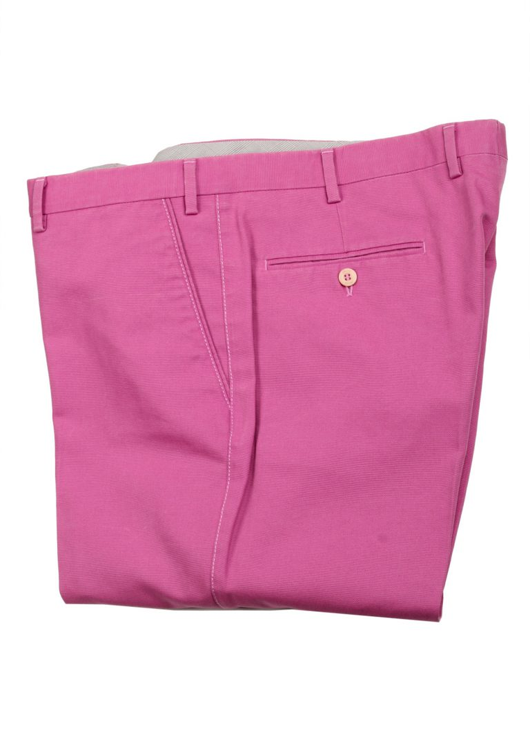 Brioni Pink Cotton Trousers - thumbnail | Costume Limité