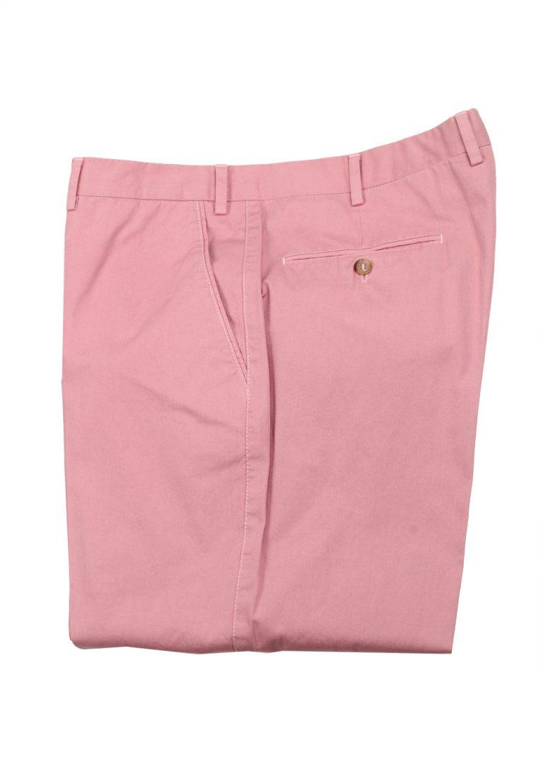 Brioni Pink Cotton Trousers Size 54 / 38 U.S. - thumbnail | Costume Limité