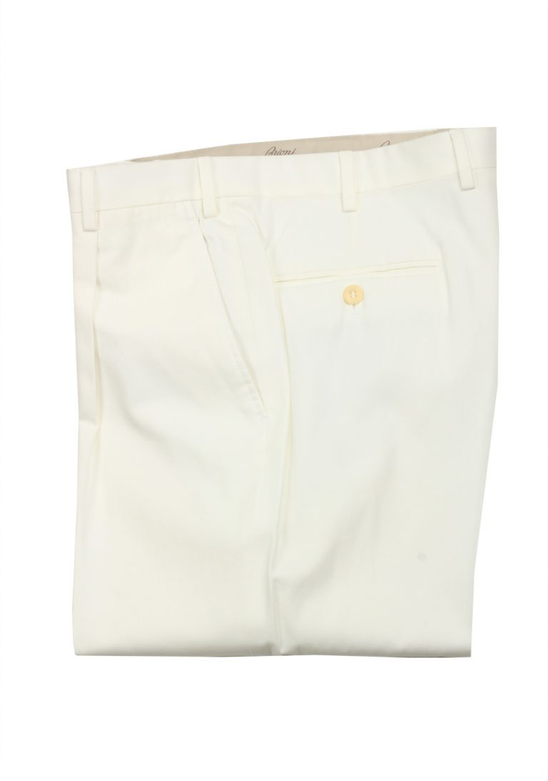Brioni Off White Trousers Size 52 / 36 U.S. - thumbnail | Costume Limité