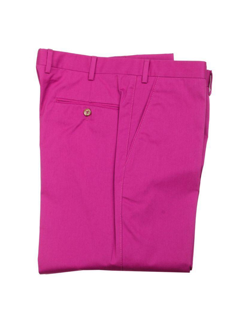 Brioni Pink Cotton Trousers Size 52 / 36 U.S. - thumbnail | Costume Limité