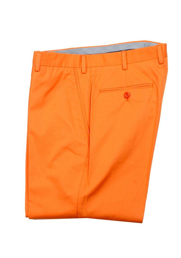 Brioni Orange Cotton Trousers Size 56 / 40 U.S. - thumbnail | Costume Limité