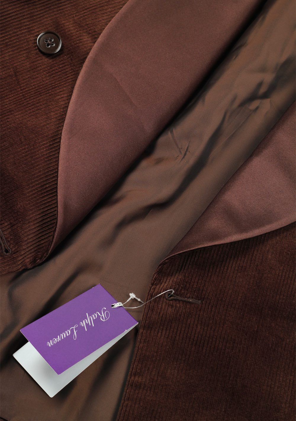 Ralph Lauren Purple Label Brown Dinner Jacket Sport Coat   Costume Limité
