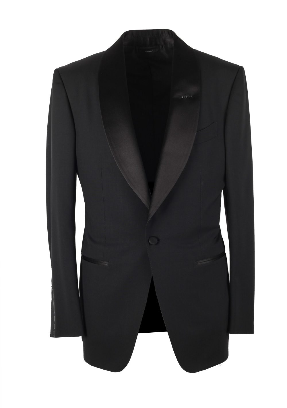 TOM FORD Windsor Black Tuxedo Smoking Suit Size 50 / 40R U.S. Fit A | Costume Limité