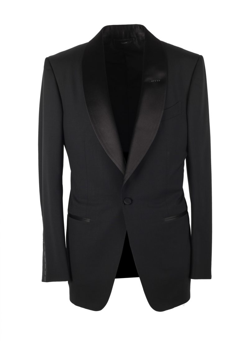 TOM FORD Windsor Black Tuxedo Smoking Suit Size 50 / 40R U.S. Fit A - thumbnail | Costume Limité