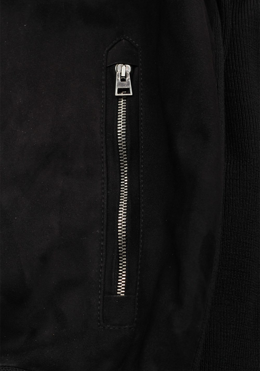 TOM FORD Black Suede Zipper Cardigan | Costume Limité