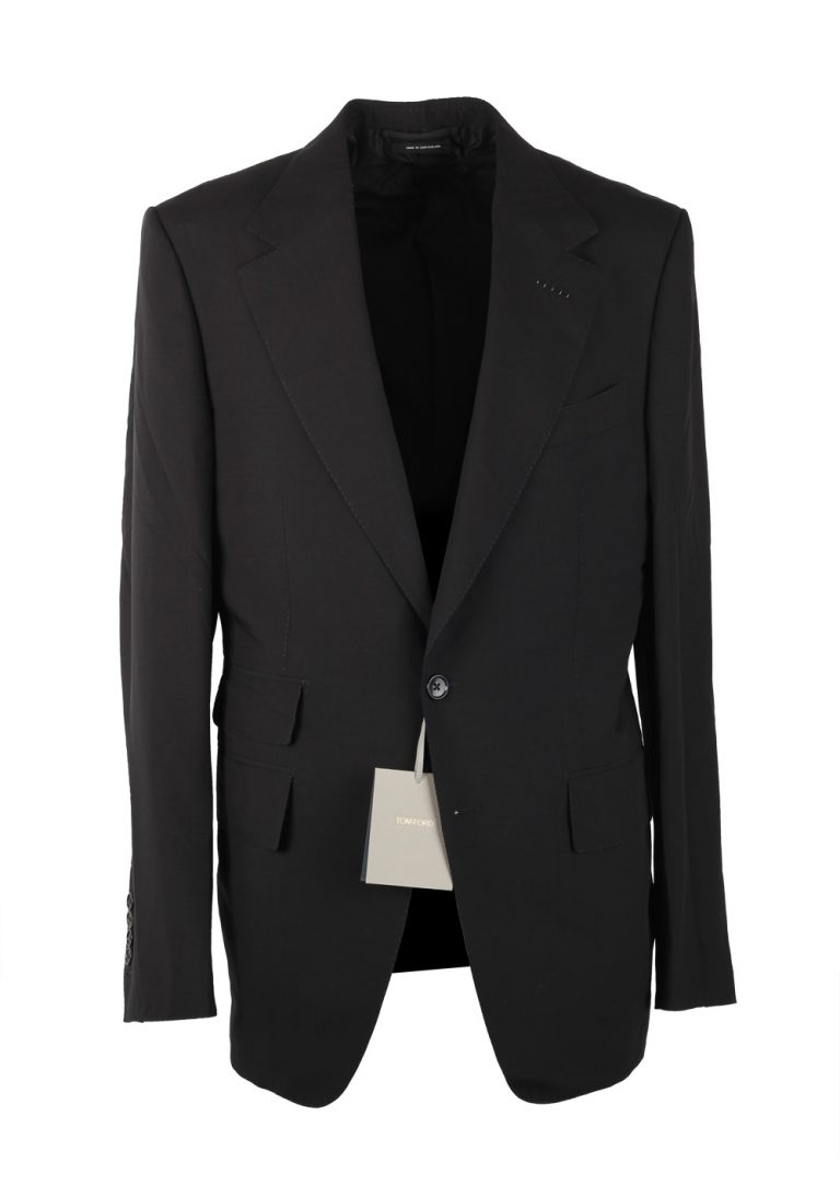 TOM FORD Shelton Black Suit Size 48 / 38R U.S. In Wool Blend - thumbnail | Costume Limité