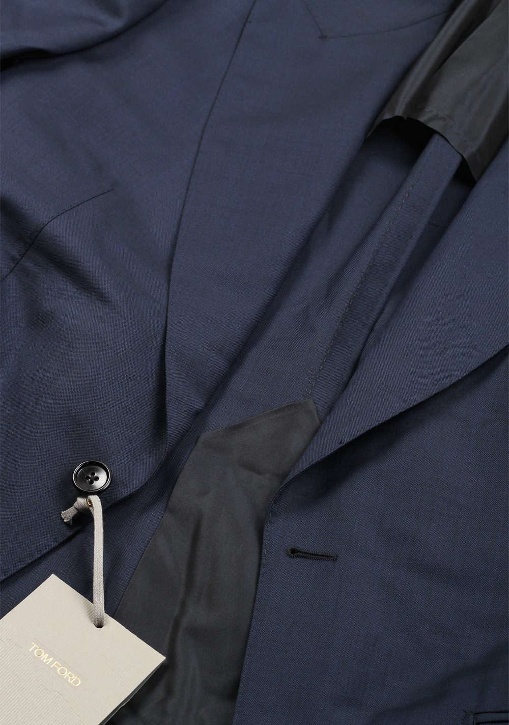 TOM FORD Shelton Blue Suit Size 48 / 38R U.S. In Wool | Costume Limité