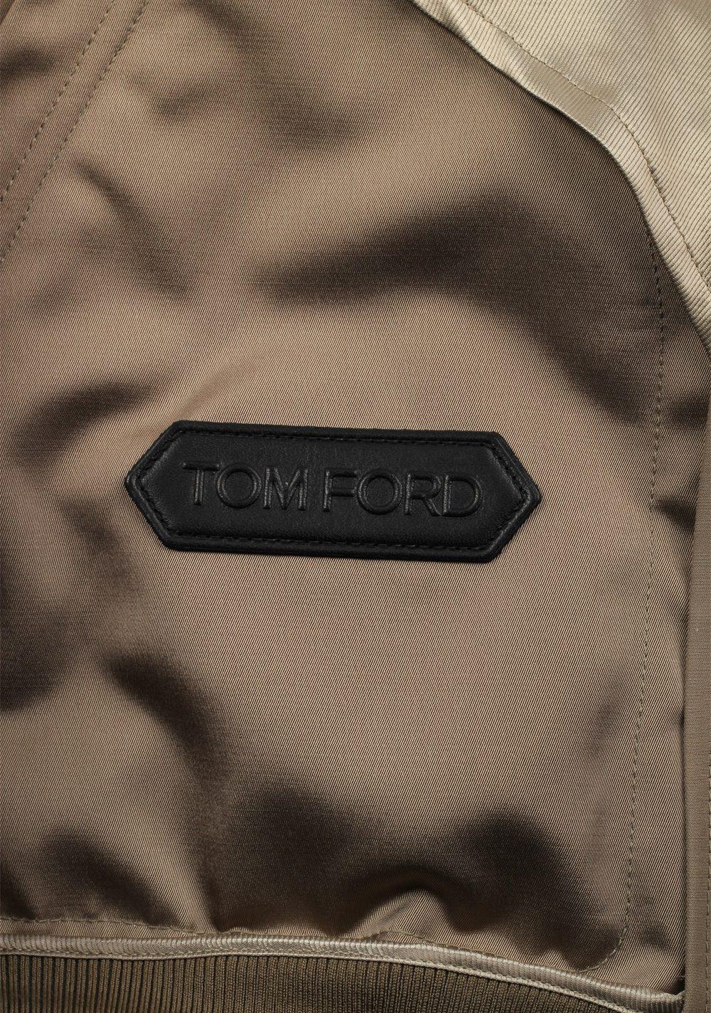 TOM FORD Beige Zipper Bomber Jack | Costume Limité