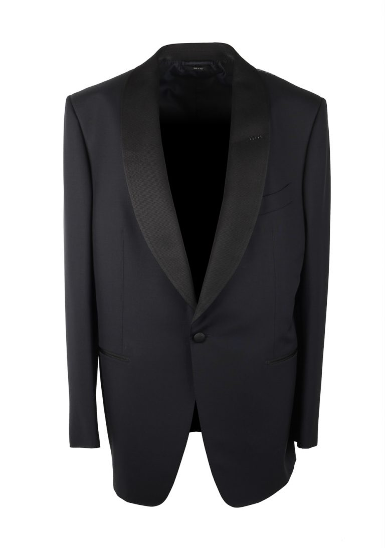 TOM FORD Windsor Midnight Blue Tuxedo Suit Size 56 / 46R U.S. Shawl Collar Fit A - thumbnail | Costume Limité