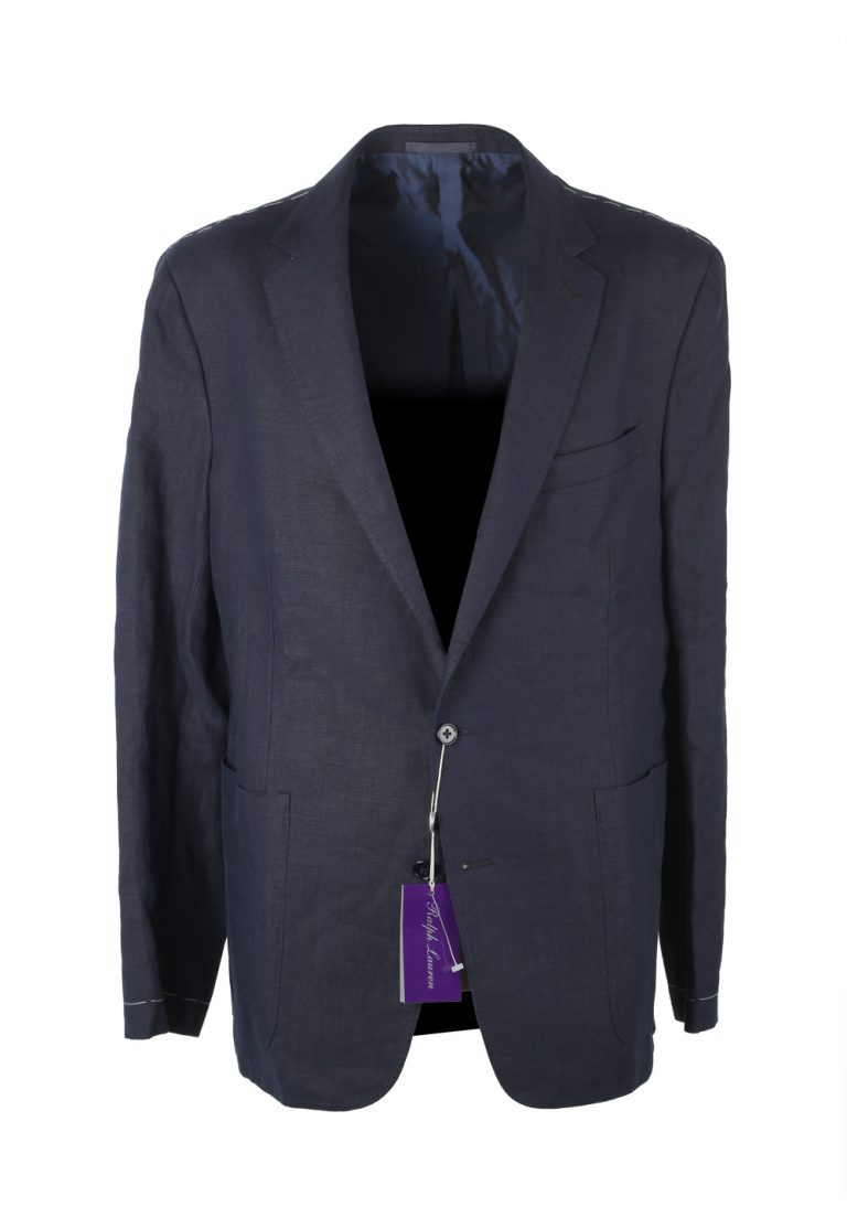 Ralph Lauren Purple Label Blue Sport Coat Size 52 / 42R U.S. In Linen - thumbnail | Costume Limité