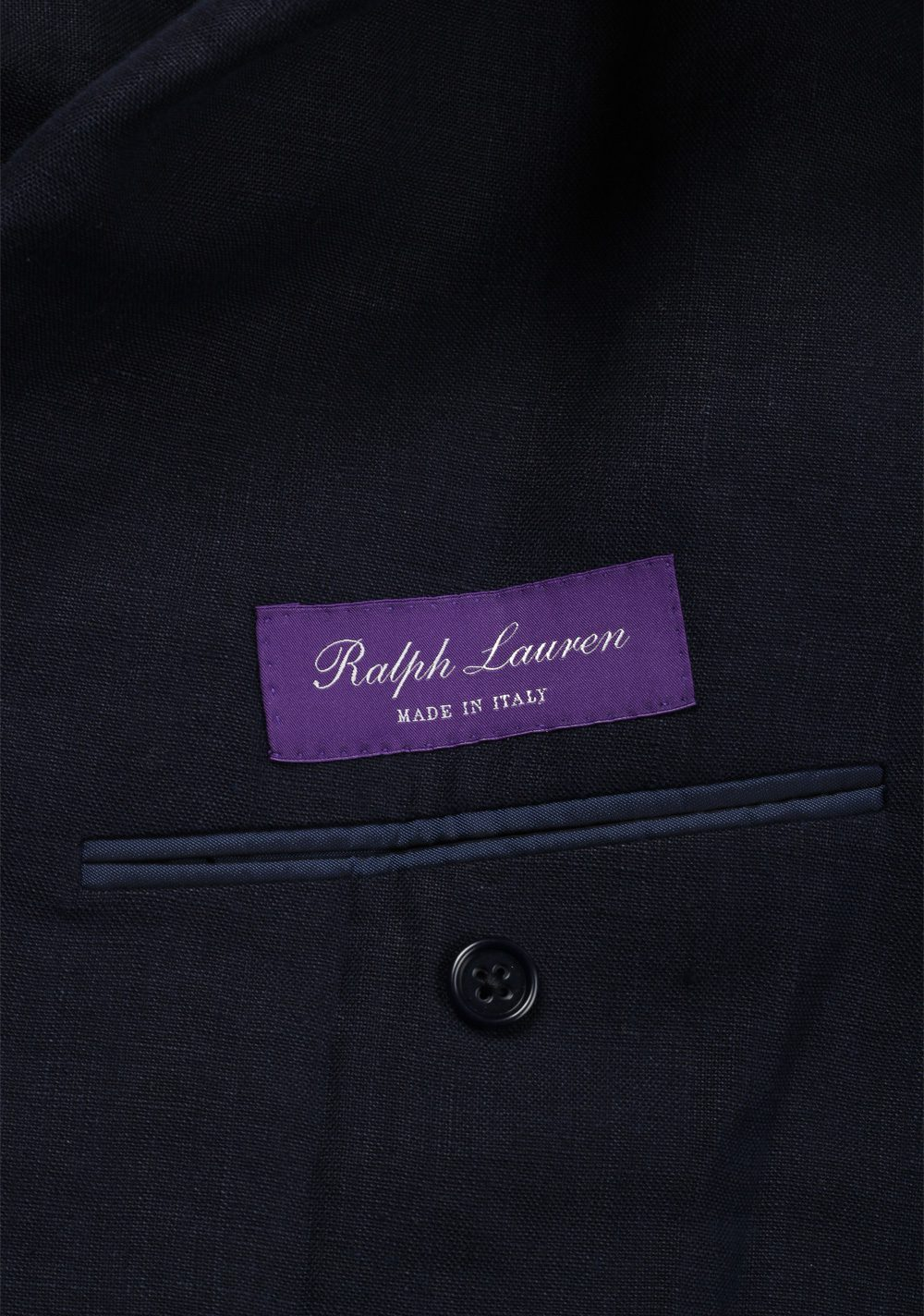 Ralph Lauren Purple Label Blue Sport Coat Size 52 / 42R U.S. In Linen | Costume Limité