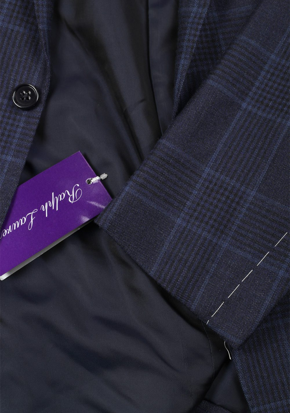 Ralph Lauren Purple Label Checked Blue Sport Coat Size 50 / 40R U.S. | Costume Limité