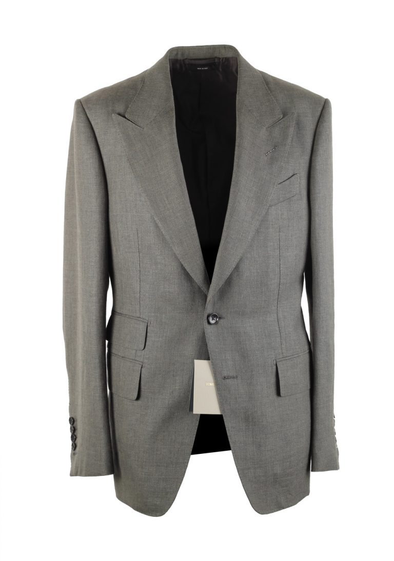 TOM FORD Shelton Greenish Gray Suit Size 48 / 38R U.S. - thumbnail | Costume Limité