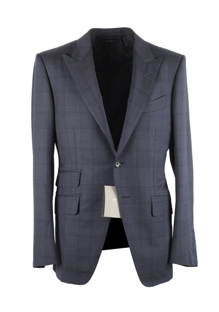 TOM FORD O'Connor Blue Suit Size 46C / 36S U.S. - thumbnail | Costume Limité