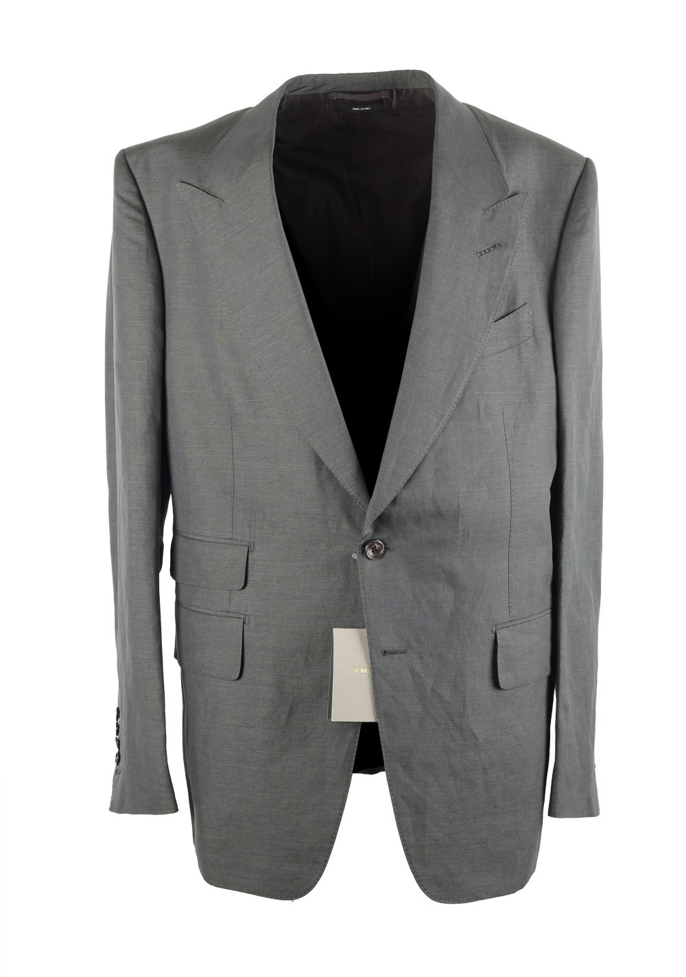 TOM FORD Shelton Greenish Gray Suit Size 54 / 44 U.S. | Costume Limité