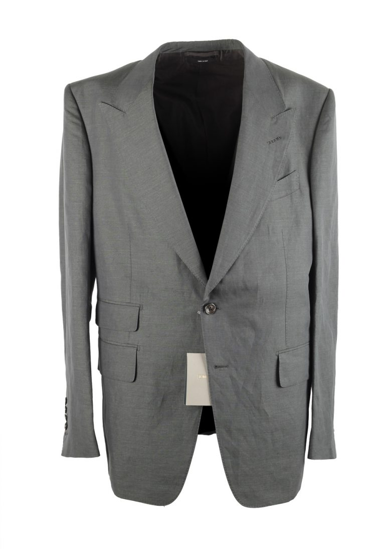 TOM FORD Shelton Greenish Gray Suit Size 54 / 44 U.S. - thumbnail | Costume Limité